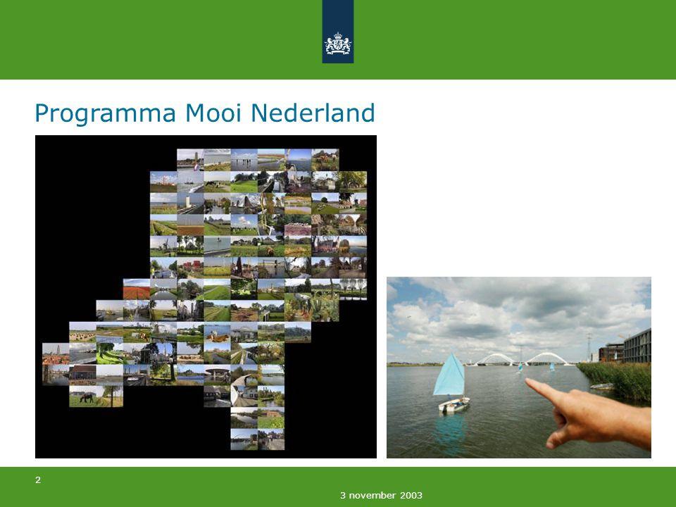 23 3 november 2003 Groen-recreatieve opgave formuleren