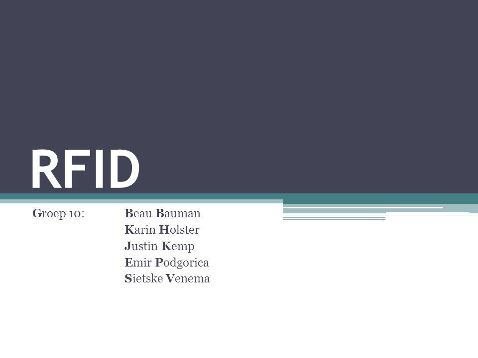 RFID Groep 10: Beau Bauman Karin Holster Justin Kemp Emir Podgorica Sietske Venema