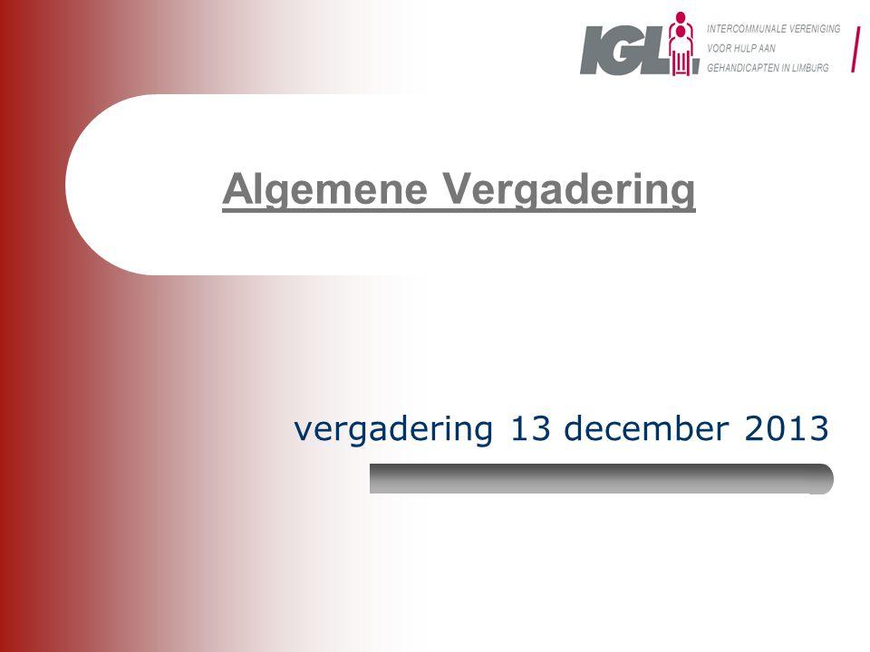Algemene Vergadering vergadering 13 december 2013