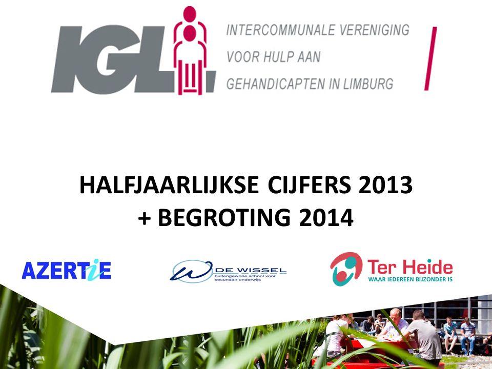 HALFJAARLIJKSE CIJFERS 2013 + BEGROTING 2014