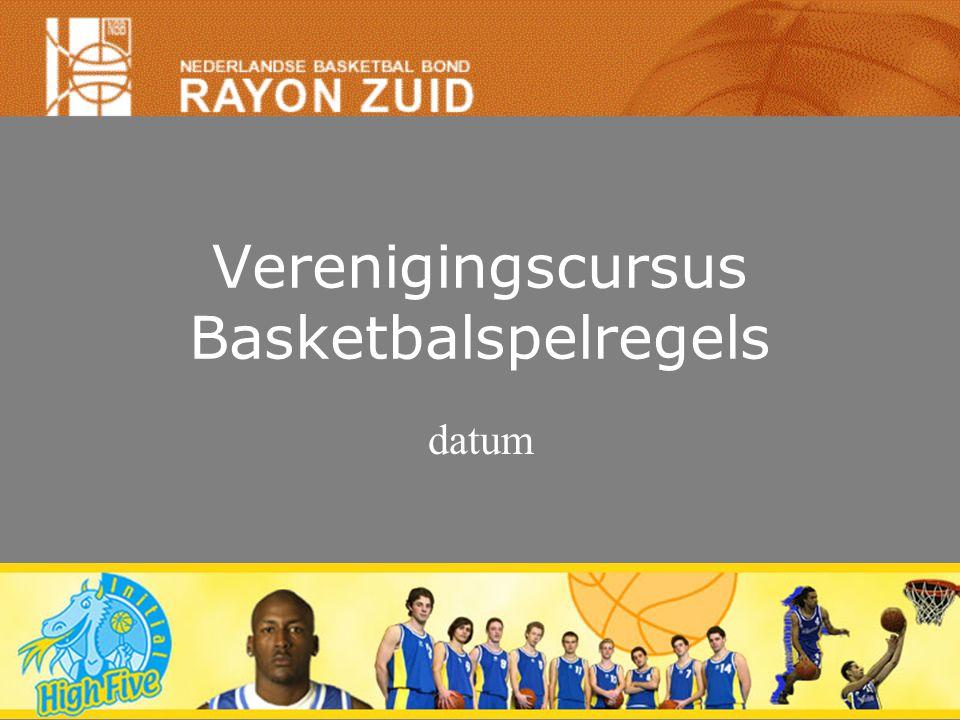 Verenigingscursus Basketbalspelregels datum