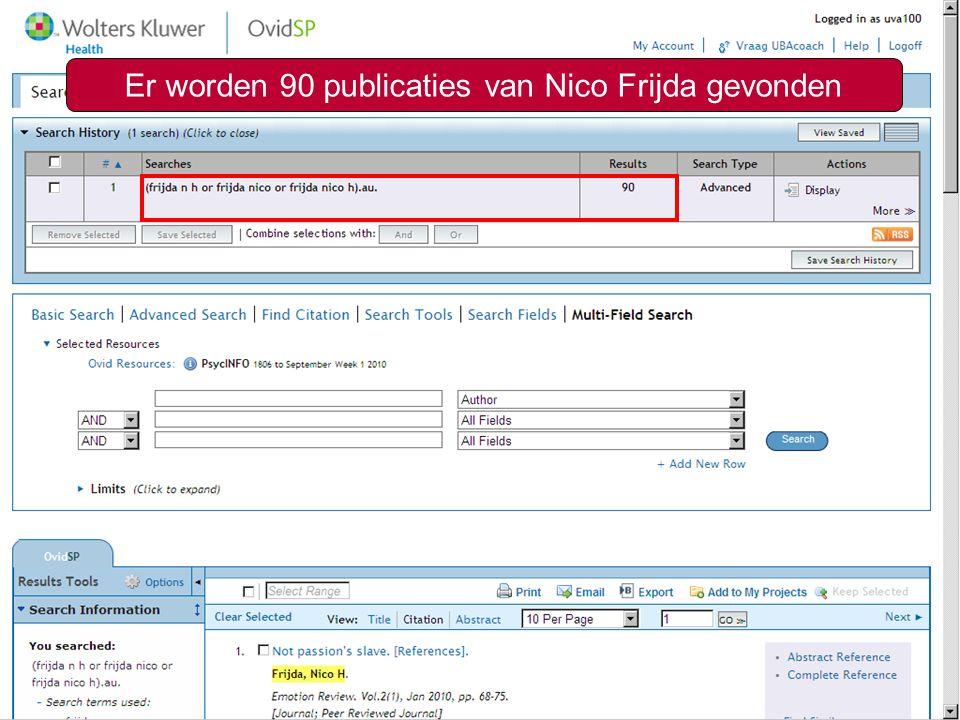 Zoeken op auteur7 Er worden 90 publicaties van Nico Frijda gevonden