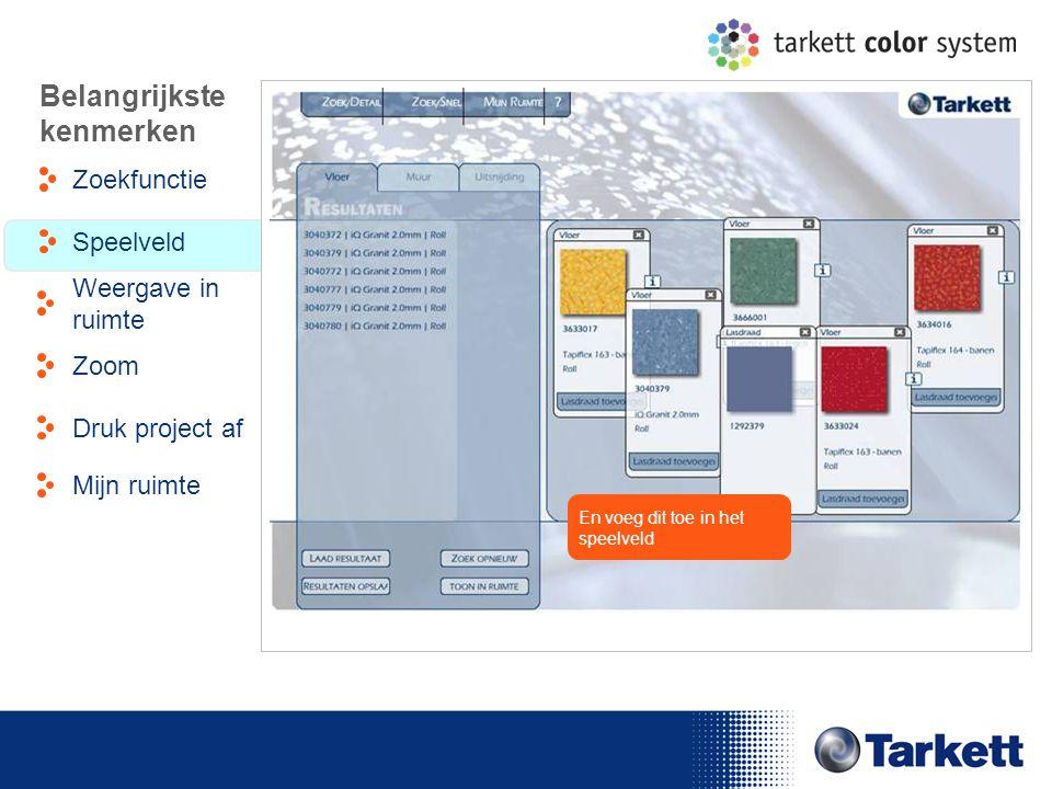 EDF Energy Briefing En voeg dit toe in het speelveld Belangrijkste kenmerken Zoekfunctie Weergave in ruimte Speelveld Zoom Druk project af Mijn ruimte