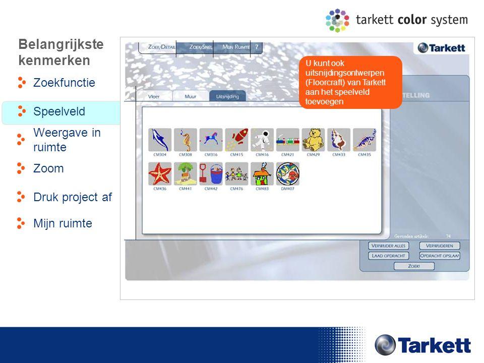 EDF Energy Briefing U kunt ook uitsnijdingsontwerpen (Floorcraft) van Tarkett aan het speelveld toevoegen Belangrijkste kenmerken Zoekfunctie Weergave