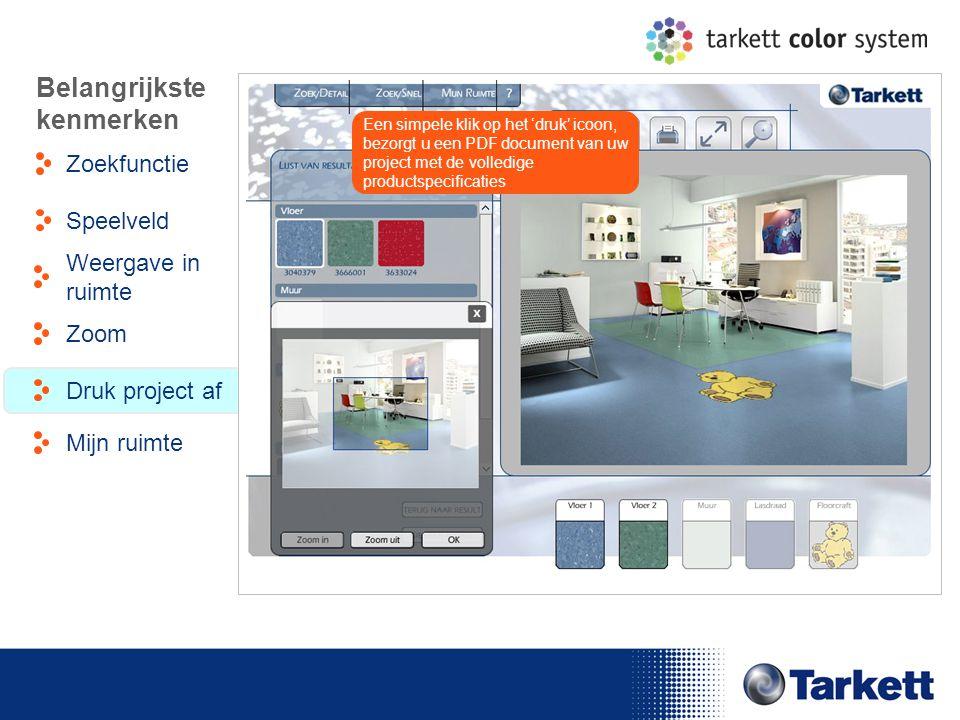 EDF Energy Briefing Een simpele klik op het 'druk' icoon, bezorgt u een PDF document van uw project met de volledige productspecificaties Belangrijkst