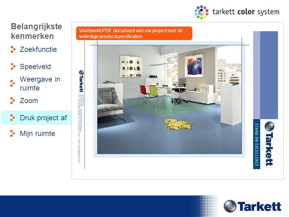 EDF Energy Briefing Belangrijkste kenmerken Zoekfunctie Weergave in ruimte Speelveld Zoom Druk project af Mijn ruimte Voorbeeld PDF document van uw pr