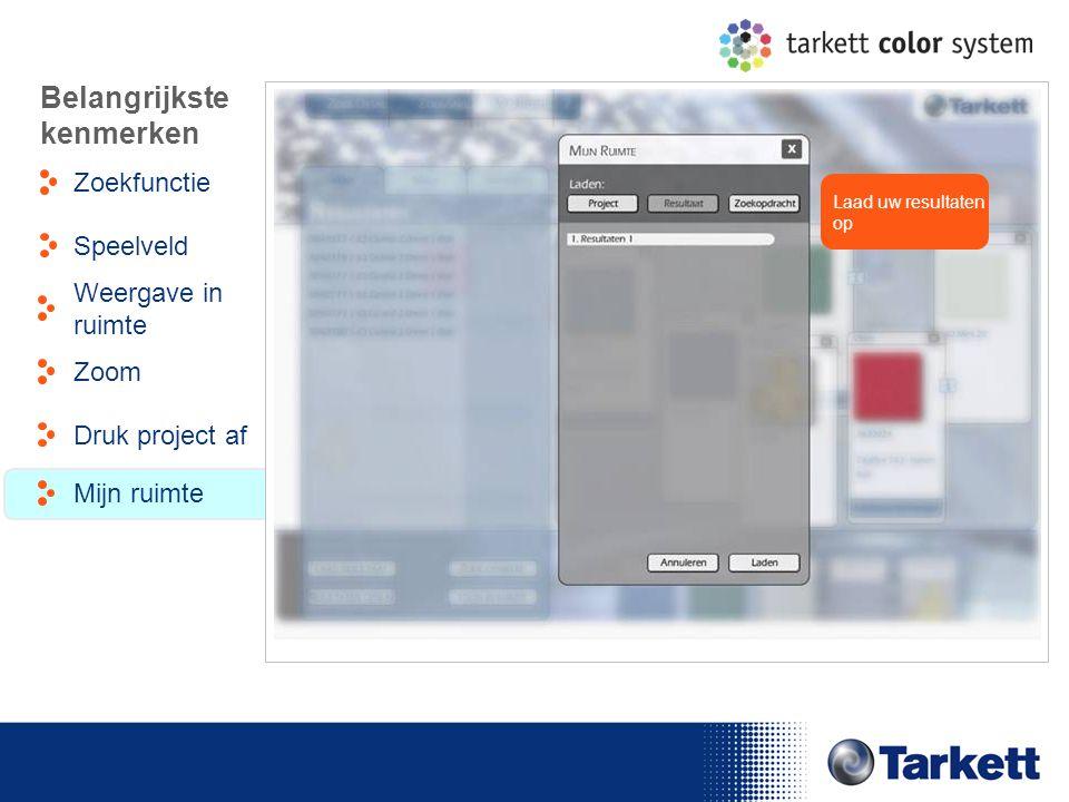 EDF Energy Briefing Laad uw resultaten op Belangrijkste kenmerken Zoekfunctie Weergave in ruimte Speelveld Zoom Druk project af Mijn ruimte