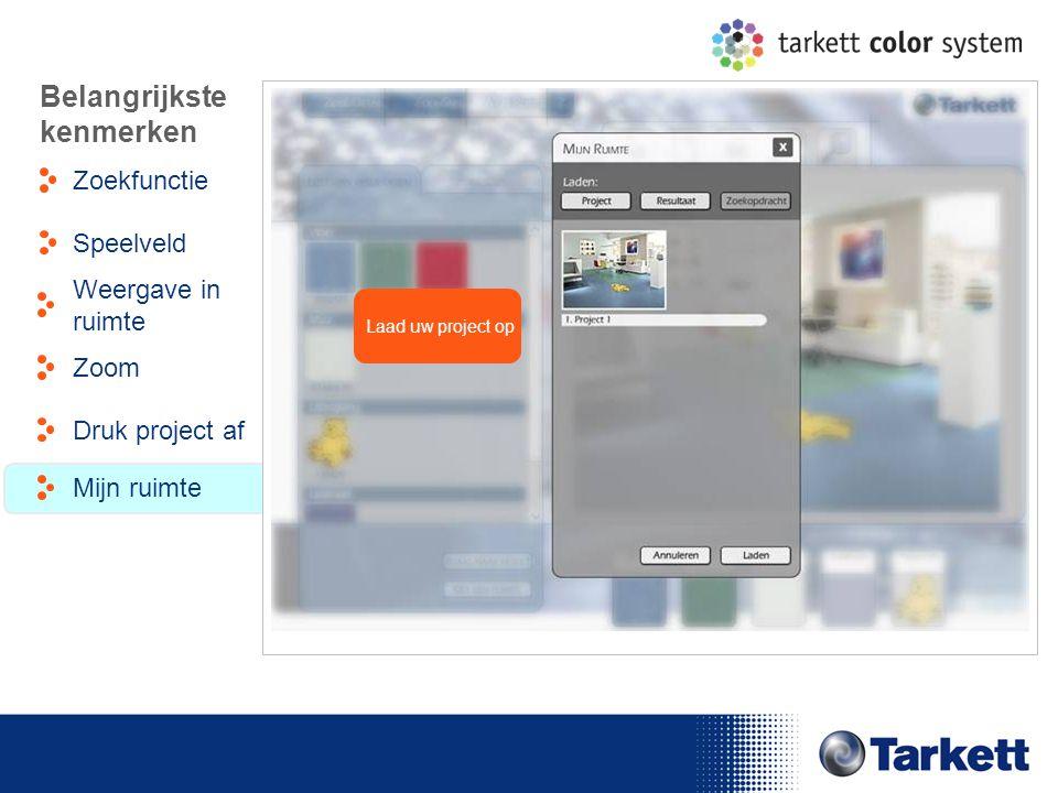EDF Energy Briefing Laad uw project op Belangrijkste kenmerken Zoekfunctie Weergave in ruimte Speelveld Zoom Druk project af Mijn ruimte