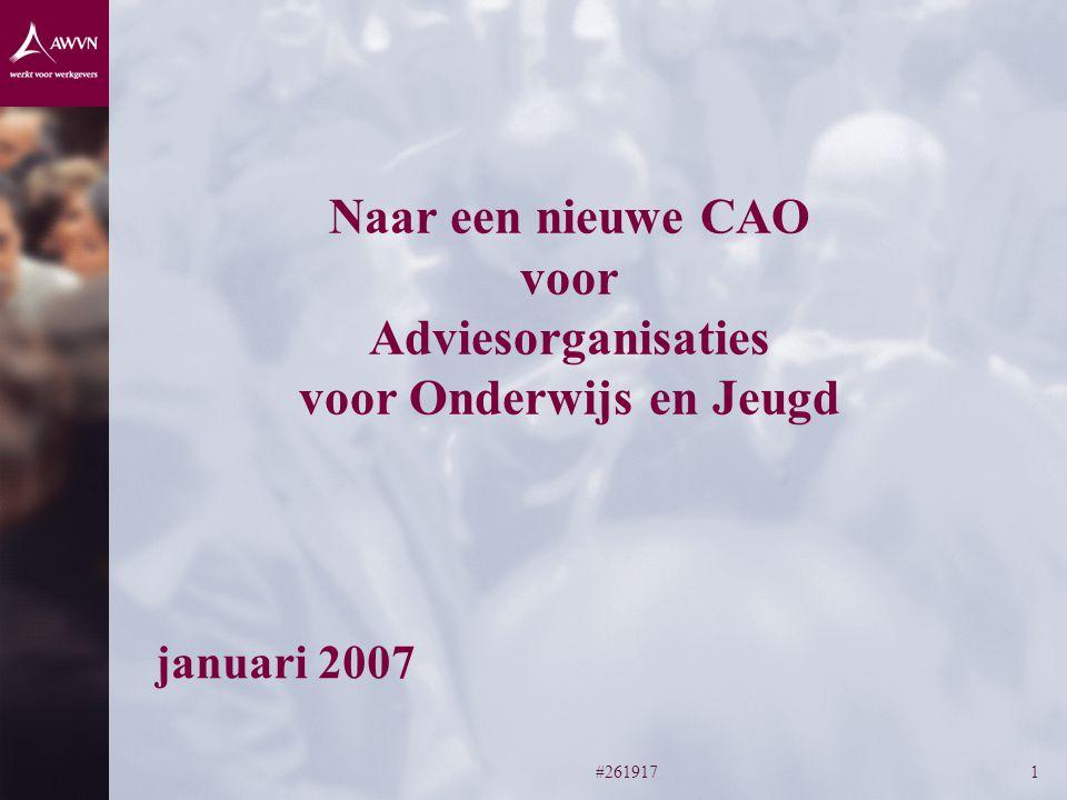 #2619171 Naar een nieuwe CAO voor Adviesorganisaties voor Onderwijs en Jeugd januari 2007