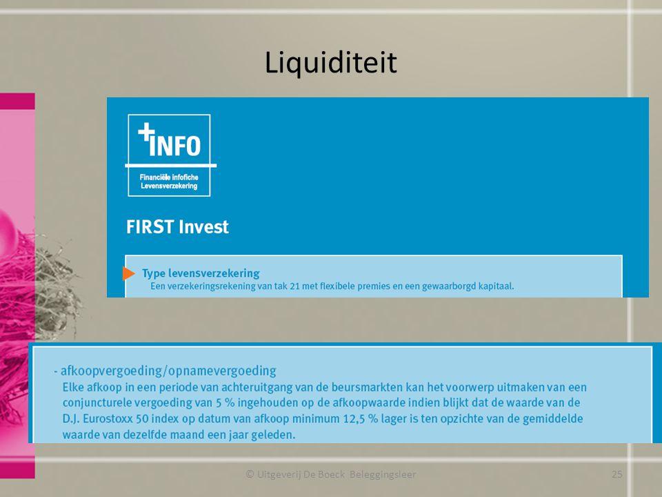 Liquiditeit © Uitgeverij De Boeck Beleggingsleer25