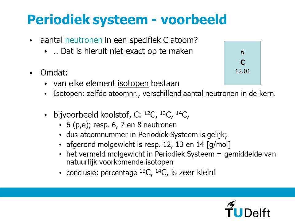 Periodiek systeem - voorbeeld aantal neutronen in een specifiek C atoom?..