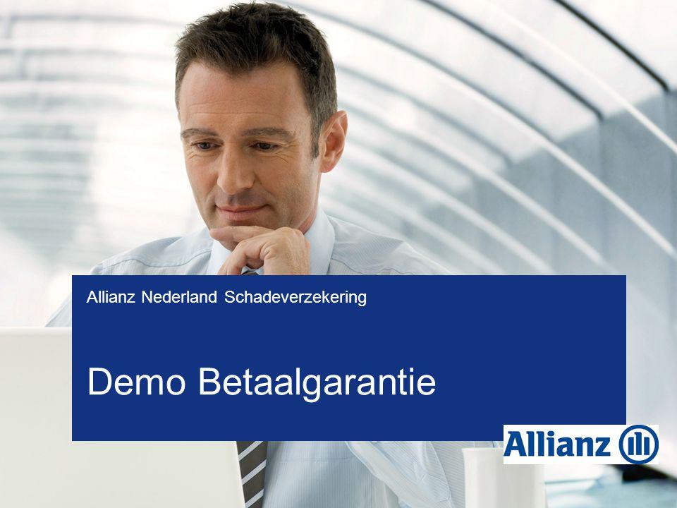 Demo Betaalgarantie Allianz Nederland Schadeverzekering