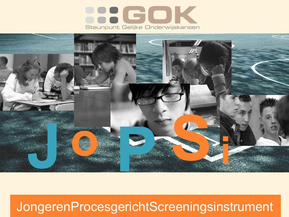 J o i S P JongerenProcesgerichtScreeningsinstrument