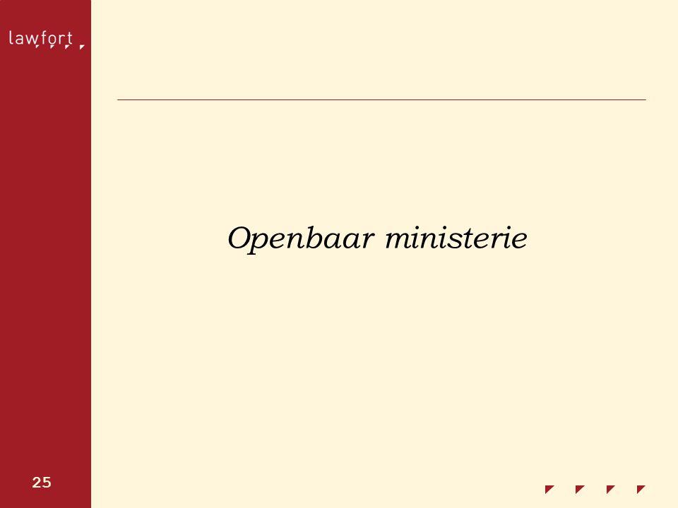 25 Openbaar ministerie
