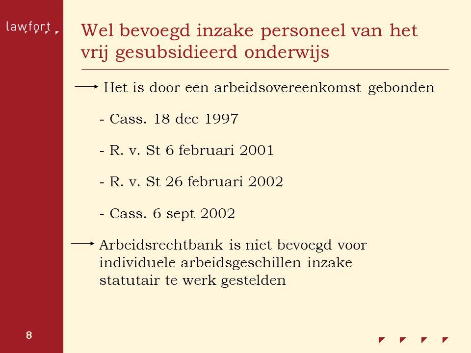 9 Arbeidsrechtbank is eveneens bevoegd inzake: Individuele geschillen betreffende de toepassing van de collectieve arbeidsovereenkomsten (art.