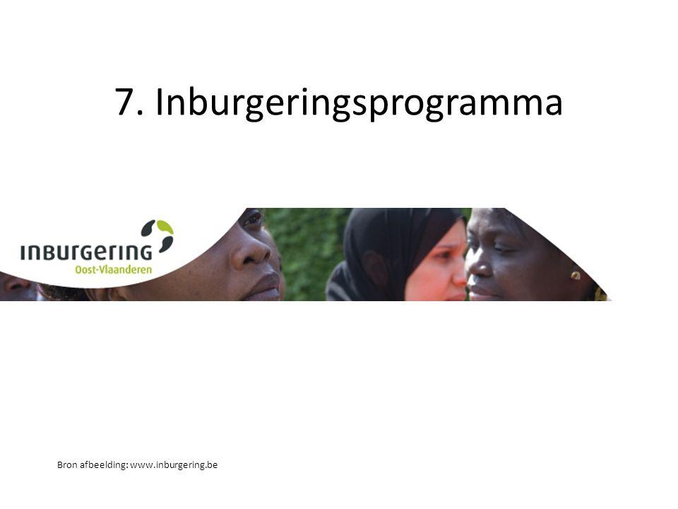 7. Inburgeringsprogramma Bron afbeelding: www.inburgering.be