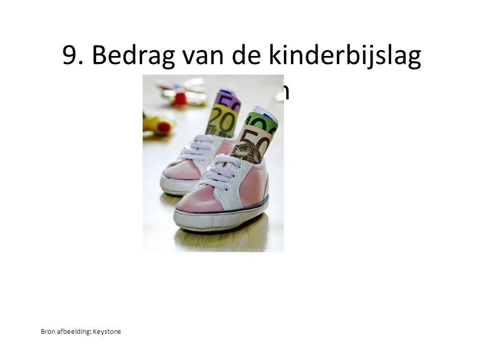 9. Bedrag van de kinderbijslag bepalen Bron afbeelding: Keystone