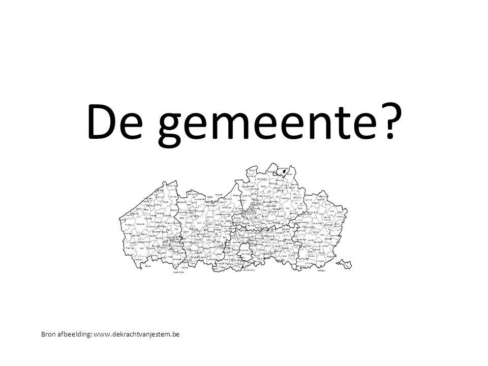 De gemeente? Bron afbeelding: www.dekrachtvanjestem.be