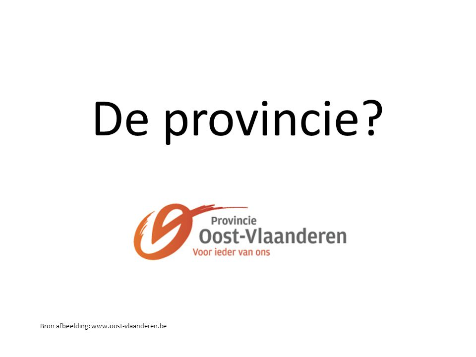 De provincie? Bron afbeelding: www.oost-vlaanderen.be