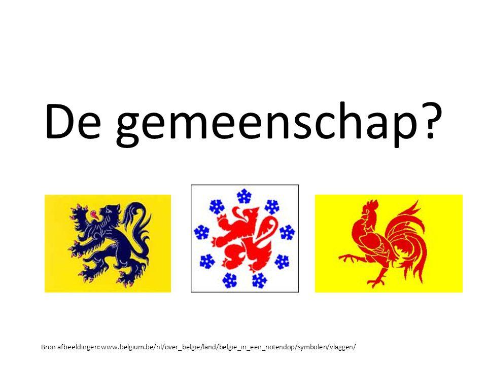 De gemeenschap? Bron afbeeldingen: www.belgium.be/nl/over_belgie/land/belgie_in_een_notendop/symbolen/vlaggen/