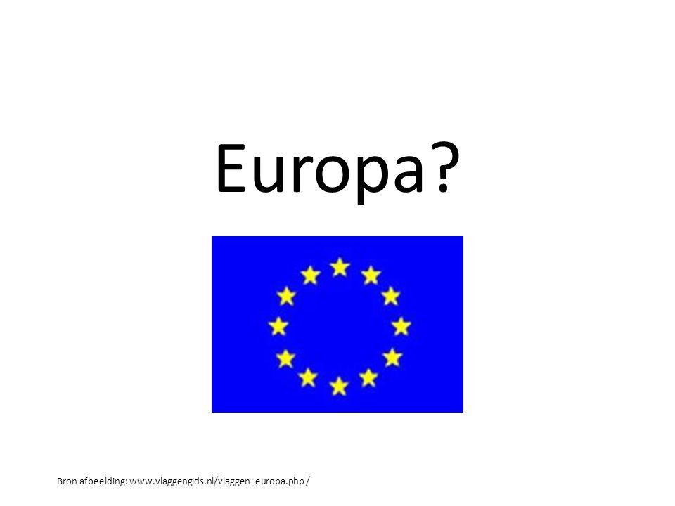 Europa? Bron afbeelding: www.vlaggengids.nl/vlaggen_europa.php /