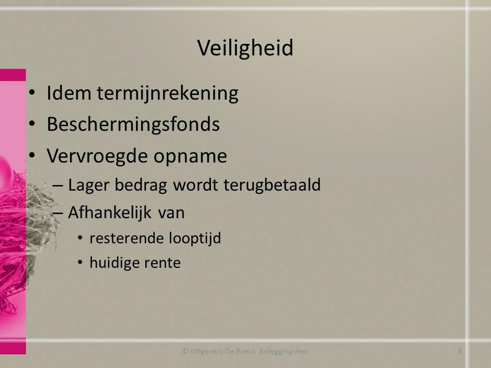 Return Oefening pagina 149 © Uitgeverij De Boeck Beleggingsleer19
