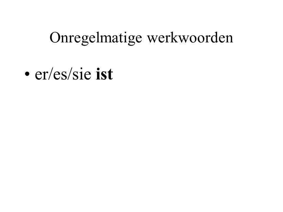 Onregelmatige werkwoorden er/es/sie ist