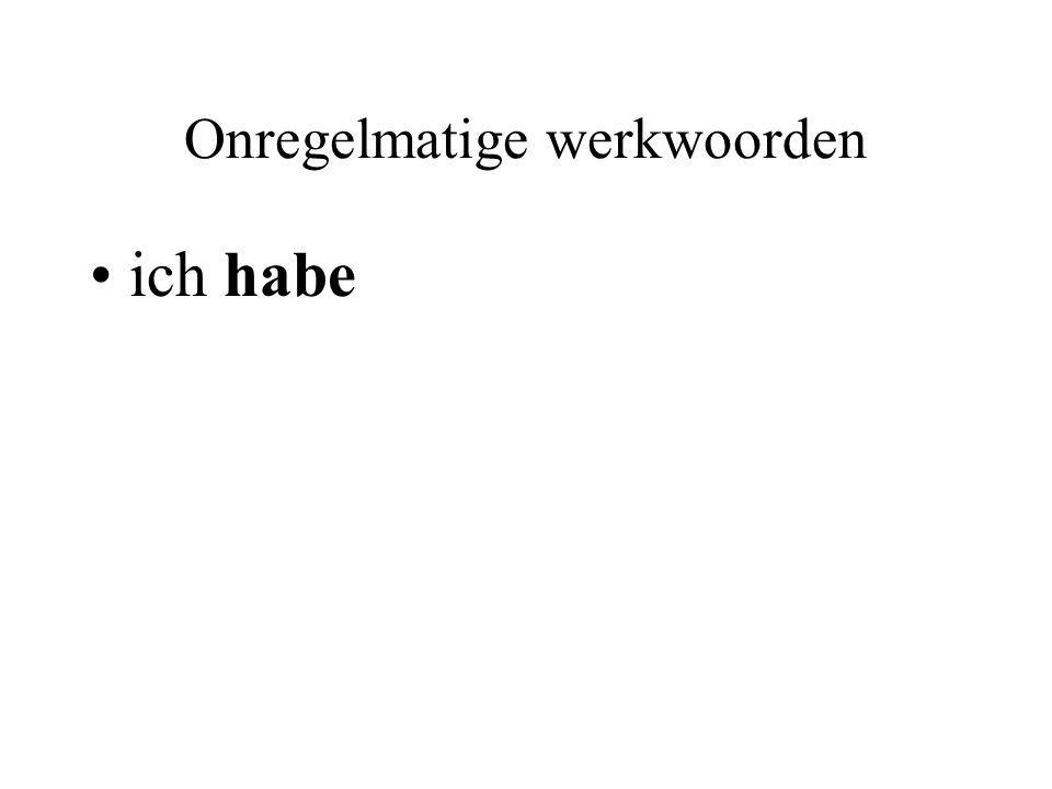 Onregelmatige werkwoorden ich habe