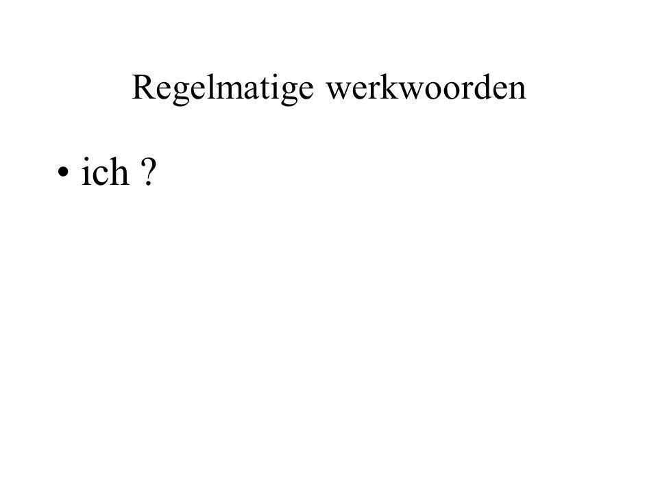 Onregelmatige werkwoorden Haben (hebben) ichhabe duhast er/es/siehat wirhaben ihrhabt sie / Siehaben