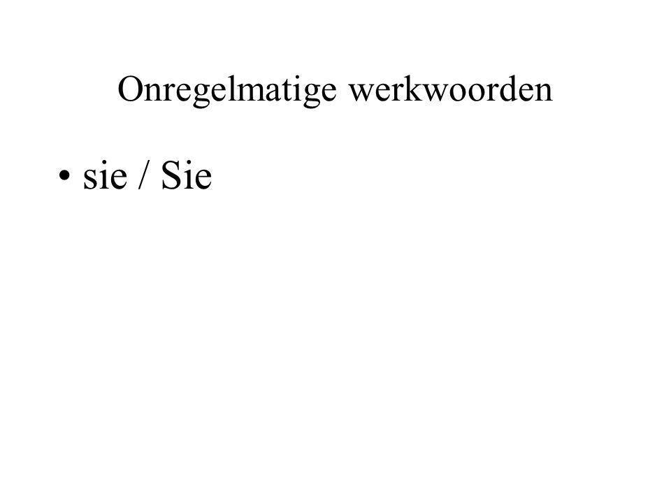 Onregelmatige werkwoorden sie / Sie