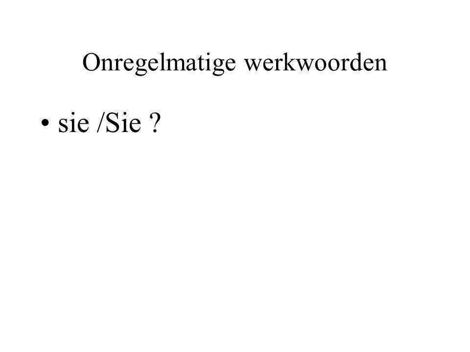 Onregelmatige werkwoorden sie /Sie ?