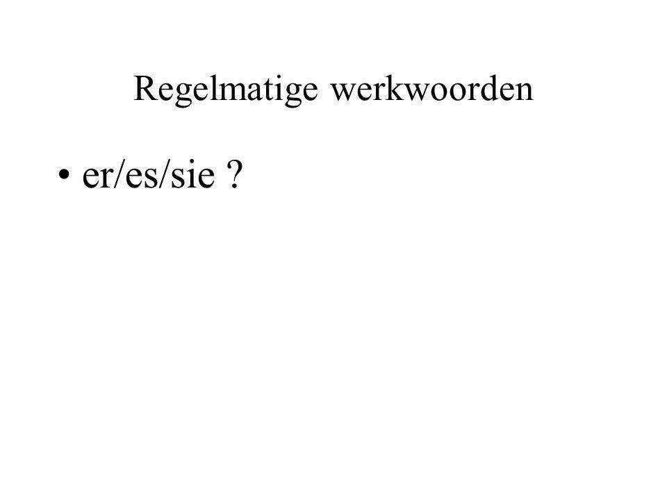 Regelmatige werkwoorden er/es/sie ?