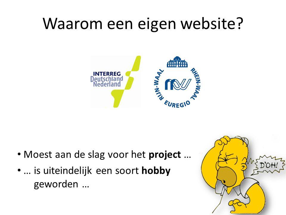Waarom een eigen website.