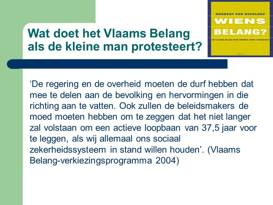 Wat doet het Vlaams Belang als de kleine man protesteert.