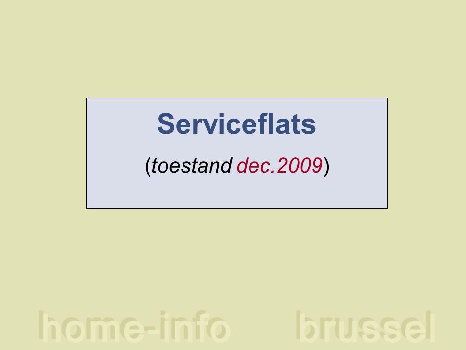 Serviceflats (toestand dec.2009)