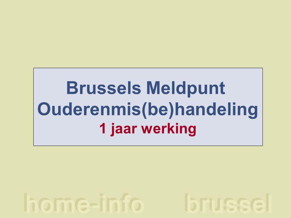 Brussels Meldpunt Ouderenmis(be)handeling 1 jaar werking