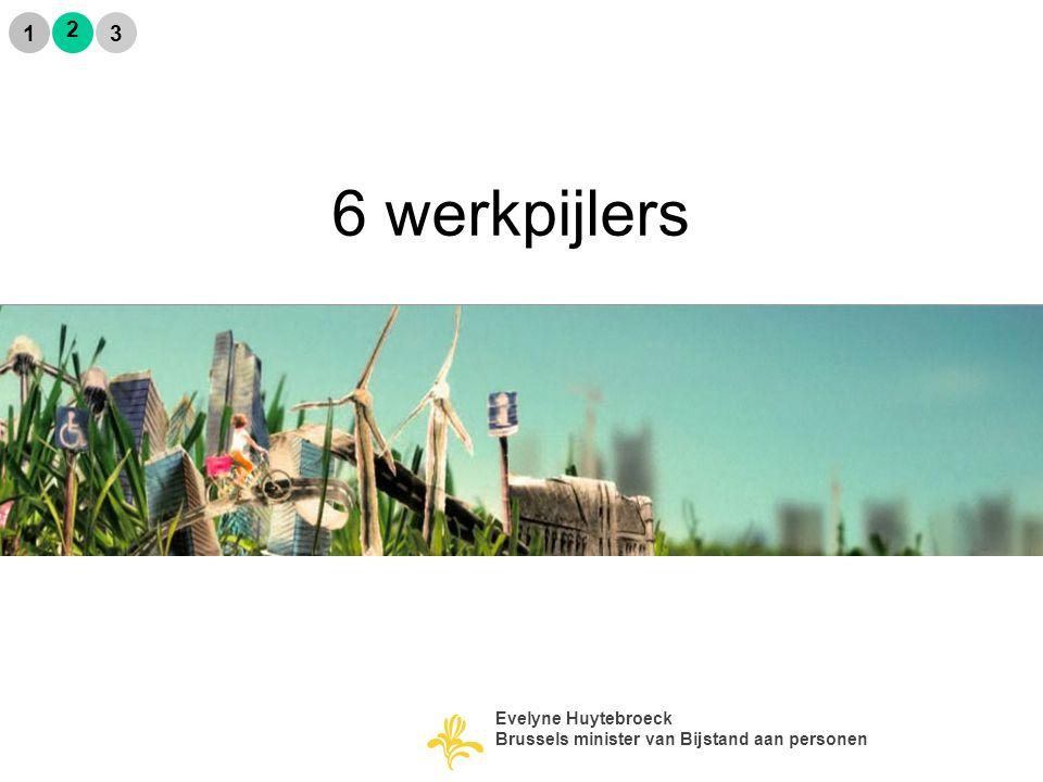 6 werkpijlers 2 1 3 Evelyne Huytebroeck Brussels minister van Bijstand aan personen