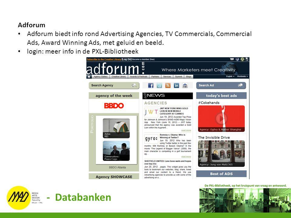 Adforum Adforum biedt info rond Advertising Agencies, TV Commercials, Commercial Ads, Award Winning Ads, met geluid en beeld. login: meer info in de P