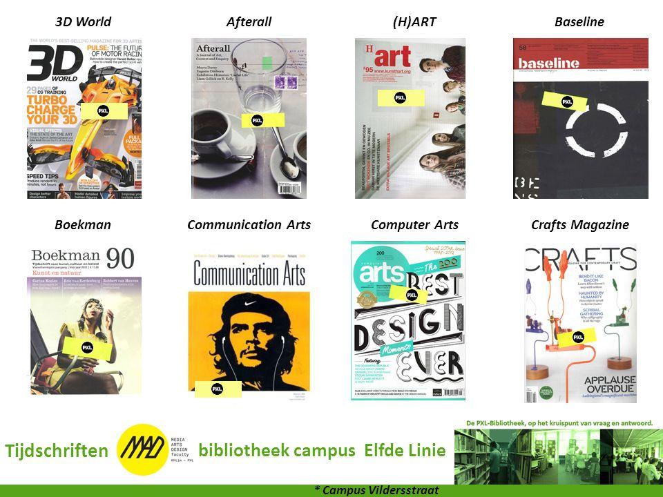 3D WorldAfterall(H)ARTBaseline BoekmanCommunication ArtsComputer ArtsCrafts Magazine Tijdschriften bibliotheek campus Elfde Linie * Campus Vildersstra