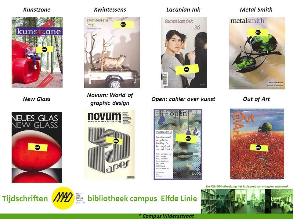 KunstzoneKwintessensLacanian InkMetal Smith New Glass Novum: World of graphic design Open: cahier over kunstOut of Art Tijdschriften bibliotheek campu
