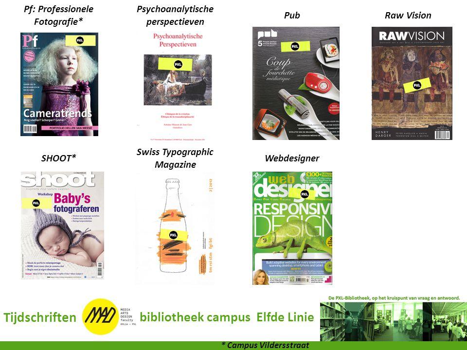 Pf: Professionele Fotografie* Psychoanalytische perspectieven PubRaw Vision SHOOT* Swiss Typographic Magazine Webdesigner Tijdschriften bibliotheek ca