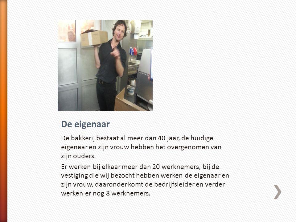 Eigenaar + Echtgenote Werknemers verkoop Werknemers productie Overige werknemers Bedrijfsleider Banketbakkerij Arnold Cornelis Amsterdam