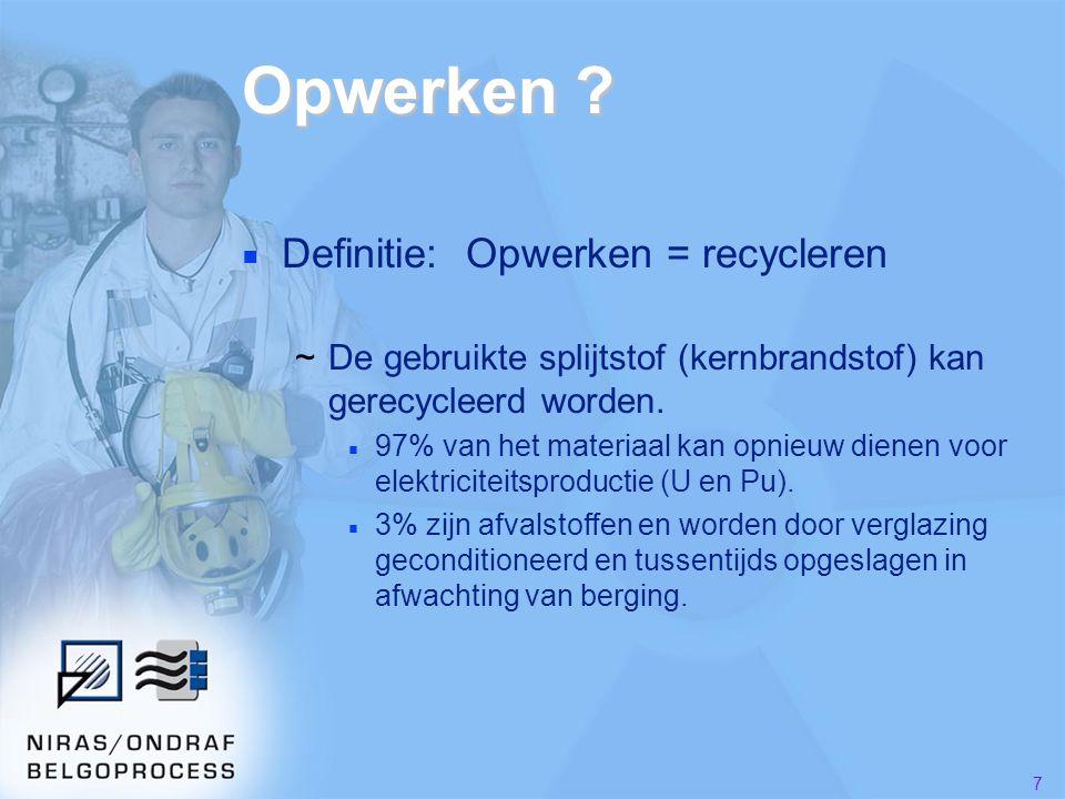 48 Meer informatie ■ Websites ~Eurochemicwww.eurochemic.be ~Belgoprocesswww.belgoprocess.be ~NIRASwww.nirond.be