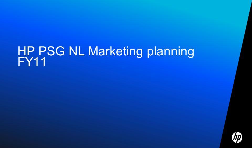 HP PSG NL Marketing planning FY11