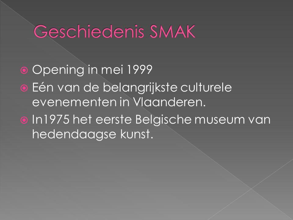  Opening in mei 1999  Eén van de belangrijkste culturele evenementen in Vlaanderen.