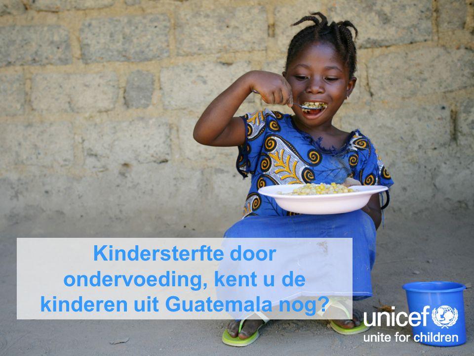 Kindersterfte door ondervoeding, kent u de kinderen uit Guatemala nog?