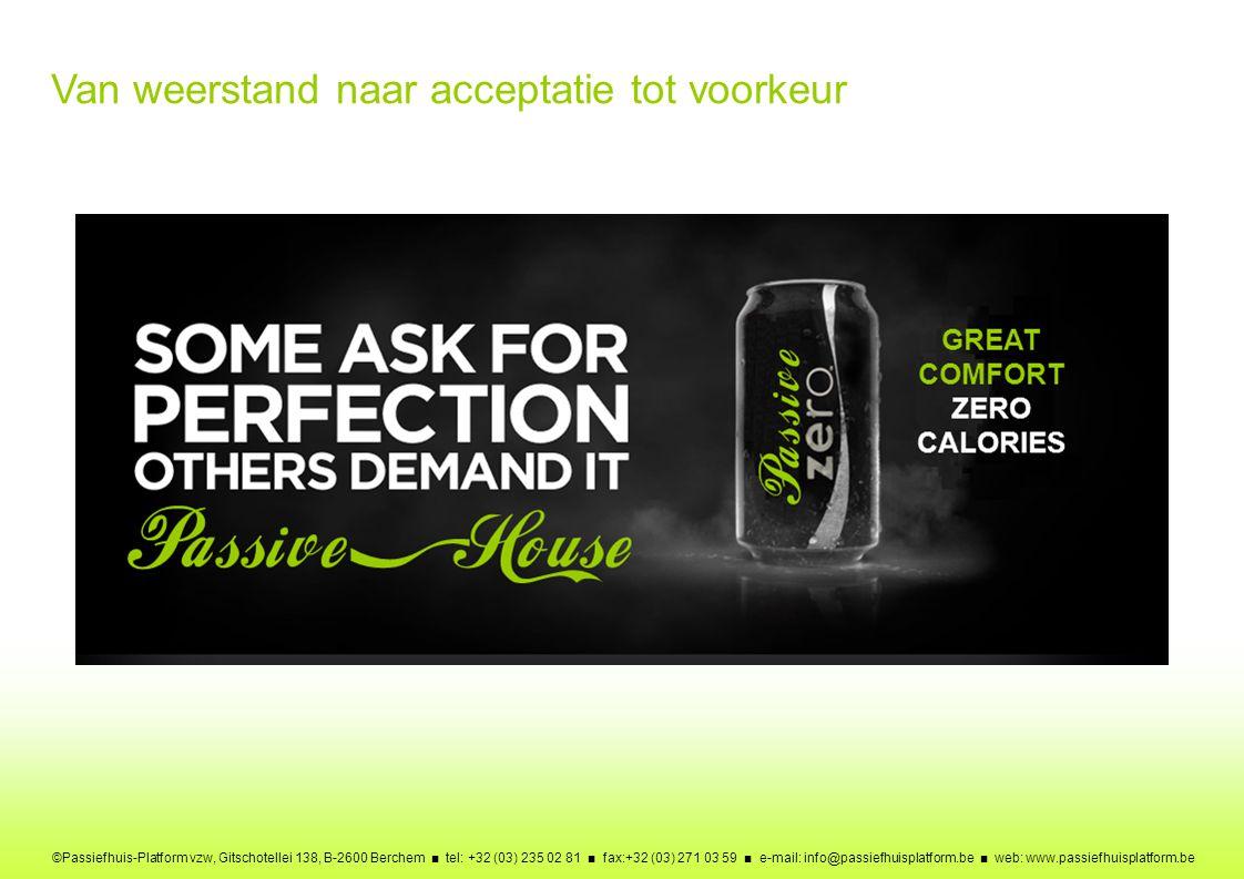 ©Passiefhuis-Platform vzw, Gitschotellei 138, B-2600 Berchem ■ tel: +32 (03) 235 02 81 ■ fax:+32 (03) 271 03 59 ■ e-mail: info@passiefhuisplatform.be