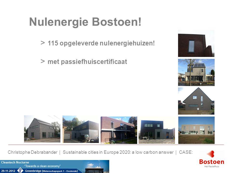 Nulenergie Bostoen! > 115 opgeleverde nulenergiehuizen! > met passiefhuiscertificaat Christophe Debrabander | Sustainable cities in Europe 2020: a low