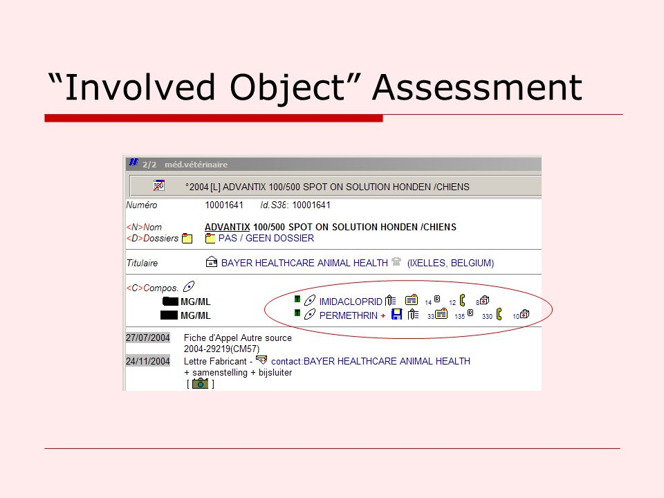 Involved Object Assessment