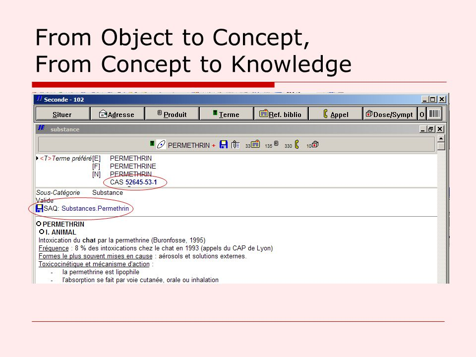 From Object to Concept, From Concept to Knowledge